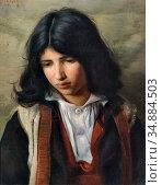 Matsch Franz Von - Portrait of a Boy - Austrian School - 19th Century. (2020 год). Редакционное фото, фотограф Artepics / age Fotostock / Фотобанк Лори