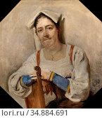 Probst Carl - Bildnis Einer Italienerin - Austrian School - 19th ... Редакционное фото, фотограф Artepics / age Fotostock / Фотобанк Лори