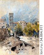 Russ Robert - Porta San Michele in Riva Del Garda - Austrian School... Редакционное фото, фотограф Artepics / age Fotostock / Фотобанк Лори