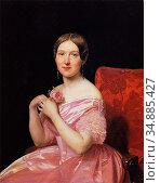 Waldmuller Ferdinand Georg - Anna Bayer Wife of the Painter - Austrian... Редакционное фото, фотограф Artepics / age Fotostock / Фотобанк Лори