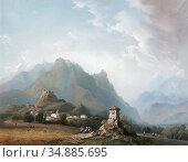 Bossoli Carlo - San Michele Cenis Valley Italy - Swiss School - 19th... Редакционное фото, фотограф Artepics / age Fotostock / Фотобанк Лори