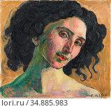 Hodler Ferdinand - Giulia Leonardi 1 - Swiss School - 19th Century. Редакционное фото, фотограф Artepics / age Fotostock / Фотобанк Лори