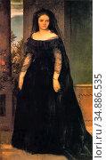Bocklin Arnold - Portrait of the Actress Fanny Janouschek - Swiss... Редакционное фото, фотограф Artepics / age Fotostock / Фотобанк Лори