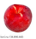 Closeup of whole ripe red peaches. Стоковое фото, фотограф Яков Филимонов / Фотобанк Лори