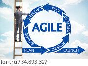 Concept of agile software development. Стоковое фото, фотограф Elnur / Фотобанк Лори