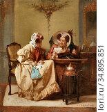 Bakker Korff Alexander Hugo - De Brief - Dutch School - 19th Century. Редакционное фото, фотограф Artepics / age Fotostock / Фотобанк Лори