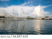 Lake Nizhny Kaban in Kazan (2018 год). Стоковое фото, фотограф Юлия Белоусова / Фотобанк Лори