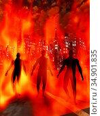 UIG-71096_RF_28_CITY_ON_FIRE_200A8H. Стоковое фото, фотограф UNIVERSAL IMAGES GROUP / age Fotostock / Фотобанк Лори
