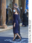 King Felipe VI of Spain, Queen Letizia of Spain attend Ceremony during... Редакционное фото, фотограф Manuel Cedron / age Fotostock / Фотобанк Лори