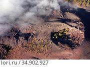 Aerial view of volcanic landscape. Volcanic crater in Tenerife, Canary... Стоковое фото, фотограф David Herraez Calzada / easy Fotostock / Фотобанк Лори