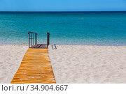 Sandy beach without people. Стоковое фото, фотограф Юрий Бизгаймер / Фотобанк Лори