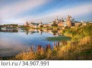 Соловецкий монастырь на закате. Стоковое фото, фотограф Baturina Yuliya / Фотобанк Лори