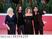 From left Maria Celli Giampaolo, Alessia and Simone Bocci during ... Редакционное фото, фотограф Cristiano Minichiello / AGF/Cristiano Minichiello / age Fotostock / Фотобанк Лори