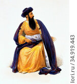 Shah Shujah-ul-Mulk (1785-1842) was the Amir of Afghanistan from ... (2016 год). Редакционное фото, фотограф Pictures From History / age Fotostock / Фотобанк Лори