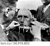 Nazism developed several hypotheses concerning race. The Nazis claimed... (2016 год). Редакционное фото, фотограф Pictures From History / age Fotostock / Фотобанк Лори