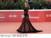 Valentina Bonariva on Red carpet of film 'Maledetta primavera' at... Редакционное фото, фотограф Cristiano Minichiello / AGF/Cristiano Minichiello / age Fotostock / Фотобанк Лори