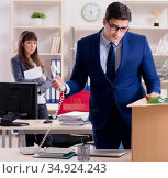 Person being fired from his work. Стоковое фото, фотограф Elnur / Фотобанк Лори