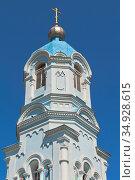 Колокольня Свято-Ильинской церкви в городе Саки, Крым. Стоковое фото, фотограф Николай Мухорин / Фотобанк Лори