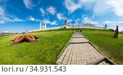 Panoramic view of the Kazan Kremlin (2018 год). Стоковое фото, фотограф Юлия Белоусова / Фотобанк Лори