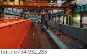13-08-2020 Russia, Naberezhnye Chelny: plant for the production of lifting cranes. Редакционное видео, видеограф Константин Шишкин / Фотобанк Лори