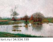 Beck Julia - Varlandskap Med Vattendrag - Swedish School - 19th Century... Редакционное фото, фотограф Artepics / age Fotostock / Фотобанк Лори