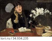 Bergh Richard - Julia Beck - Swedish School - 19th Century. Редакционное фото, фотограф Artepics / age Fotostock / Фотобанк Лори