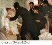 Bergh Richard - Hypnotic Seance - Swedish School - 19th Century. Редакционное фото, фотограф Artepics / age Fotostock / Фотобанк Лори
