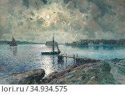 Gardell-Ericson Anna - Vy over Södra Strandverket Marstrand - Swedish... Редакционное фото, фотограф Artepics / age Fotostock / Фотобанк Лори