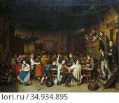 Jernberg August - Westphalian Peasants' Revels - Swedish School - ... Редакционное фото, фотограф Artepics / age Fotostock / Фотобанк Лори