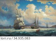 Larson Marcus - Inloppet till Kristiania - Marin Med Segel- Och Angfartyg... Редакционное фото, фотограф Artepics / age Fotostock / Фотобанк Лори