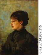 Beck Julia - Porträtt Av Dam I Profil - Swedish School - 19th Century. Редакционное фото, фотограф Artepics / age Fotostock / Фотобанк Лори