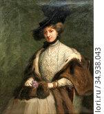 Holmgren Vilhelm - Porträtt Av Elegant Kvinna Med Hatt - Swedish ... Редакционное фото, фотограф Artepics / age Fotostock / Фотобанк Лори
