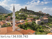 Kruja, Durres County, Albania. Castle of Kruja and Skanderbeg Museum. Стоковое фото, фотограф Ken Welsh / age Fotostock / Фотобанк Лори