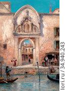 Odelmark Frans Wilhelm - Venedig 4 - Swedish School - 19th Century. Редакционное фото, фотограф Artepics / age Fotostock / Фотобанк Лори