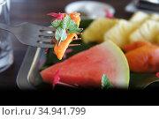 Фиджийский фруктовый салат. Стоковое фото, фотограф Юрий Хабаров / Фотобанк Лори