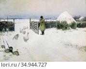 Guermacheff Michel - Snow Fell out - Russian School - 19th Century. Стоковое фото, фотограф Artepics / age Fotostock / Фотобанк Лори