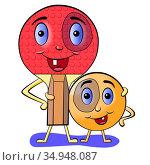 Теннисные ракетка с шариком. Стоковая иллюстрация, иллюстратор Александр Княжецкий / Фотобанк Лори