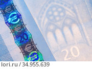 Banknote,twenty,watermark,security feature. Стоковое фото, фотограф Harald Richter / easy Fotostock / Фотобанк Лори