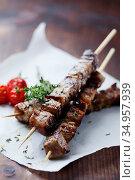Kebabs,greek cuisine,souvlaki. Стоковое фото, фотограф LFL / easy Fotostock / Фотобанк Лори
