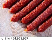 Tyrolean sausages. High quality pho. Стоковое фото, фотограф Яков Филимонов / Фотобанк Лори