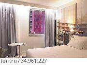 Hotel Novotel Saint-Etienne Centre Gare Chateaucreux, Ilot Poste-... Редакционное фото, фотограф Christian Goupi / age Fotostock / Фотобанк Лори
