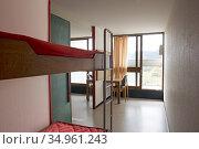 Appartement temoin de 'Unite d'habitation',Site Le Corbusier, Firminy... Редакционное фото, фотограф Christian Goupi / age Fotostock / Фотобанк Лори