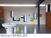 Ancienne ecole maternelle de 'Unite d'habitation',Site Le Corbusier... Редакционное фото, фотограф Christian Goupi / age Fotostock / Фотобанк Лори