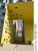 Ilot Gruner (Architecte: Manuelle Gautrand), batiment administratif... Стоковое фото, фотограф Christian Goupi / age Fotostock / Фотобанк Лори