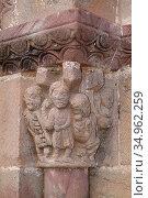 Valgañon, Nuestra Señora de Tresfuente (romanesque and renaissance... Стоковое фото, фотограф J M Barres / age Fotostock / Фотобанк Лори