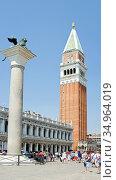 Steeple,venice,st mark's campanile,markus lion. Стоковое фото, фотограф Christoph Haehnel / easy Fotostock / Фотобанк Лори