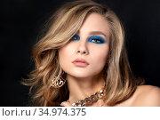 Portrait of young beautiful woman. Стоковое фото, фотограф Людмила Дутко / Фотобанк Лори