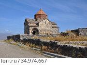 Церковь Святого Карапета в монастыре Севанаванк. Армения (2016 год). Стоковое фото, фотограф Мартынов Антон / Фотобанк Лори