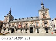 Casa de la Villa, Herrerian style 17th century. Madrid city, Spain. Стоковое фото, фотограф J M Barres / age Fotostock / Фотобанк Лори