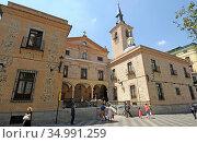 San Gines de Arles church (17th century). Madrid city, Spain. Стоковое фото, фотограф J M Barres / age Fotostock / Фотобанк Лори